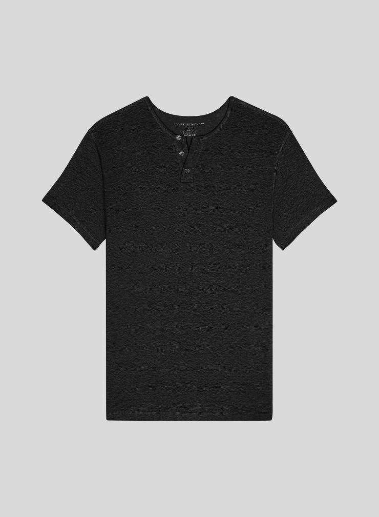 Men's Tunisian collar T-shirt