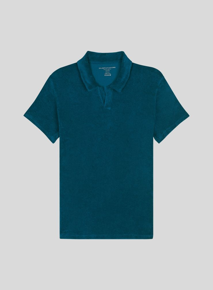 Men's sponge polo shirt