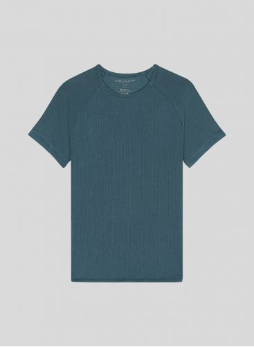 Men's round neck hand dyed honeycomb T-shirt