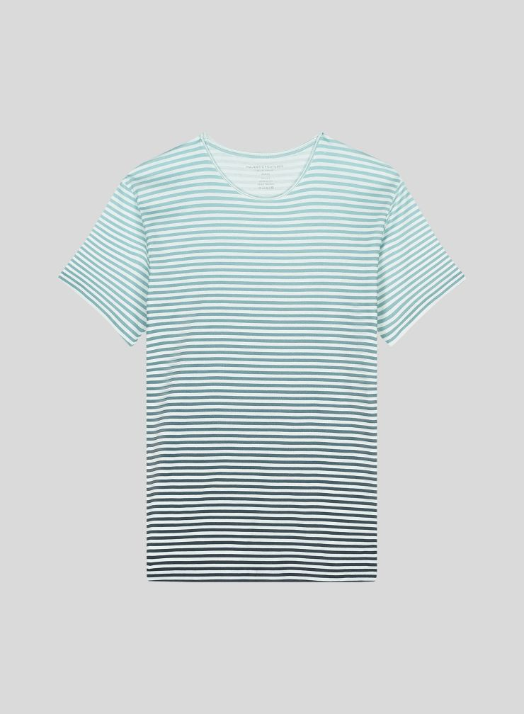 Men's striped round neck T-shirt