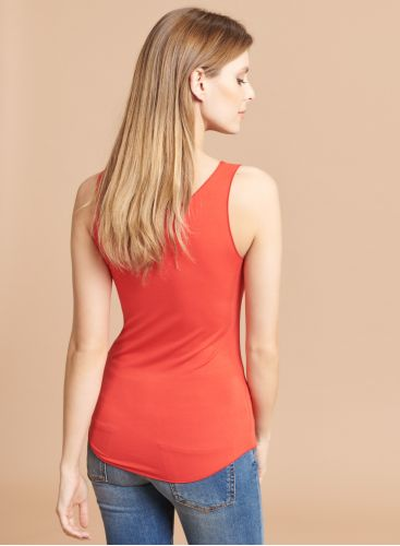 Abby U-neck Tank Top with bourdon stitch