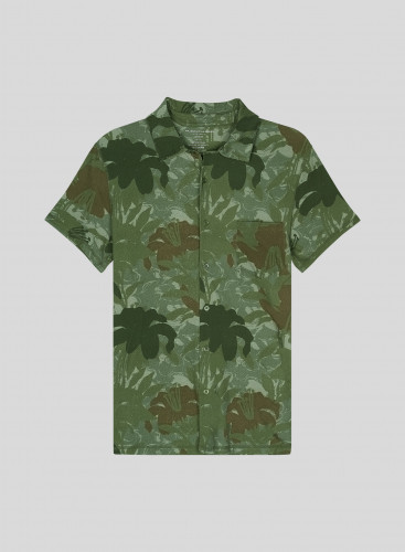 Men's short-sleeved camo printed Shirt