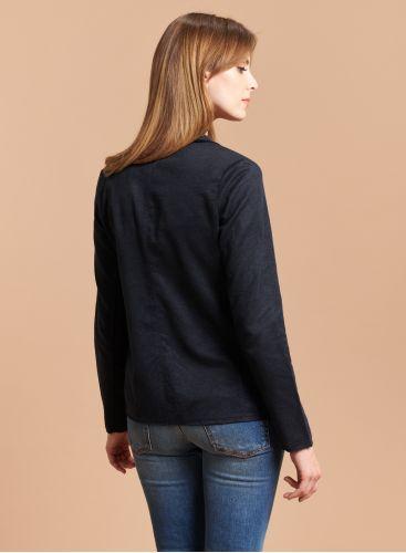 Veste poches plaquées bords francs