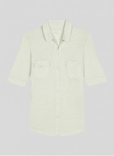 Lydia V-neck 2 pocket Shirt