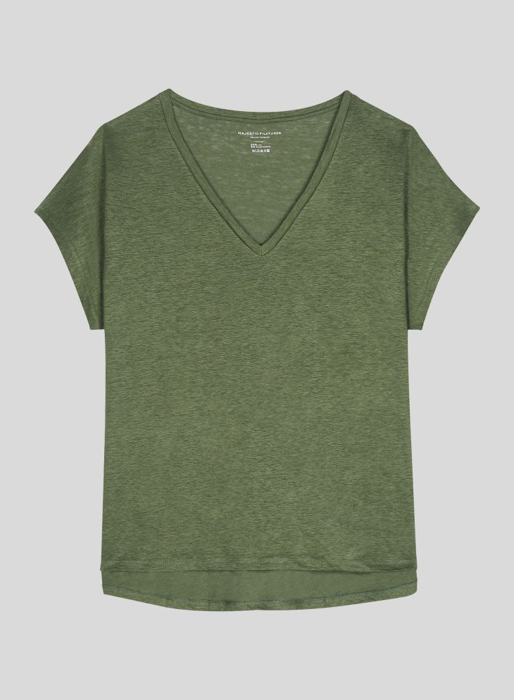V-neck boxy T-shirt