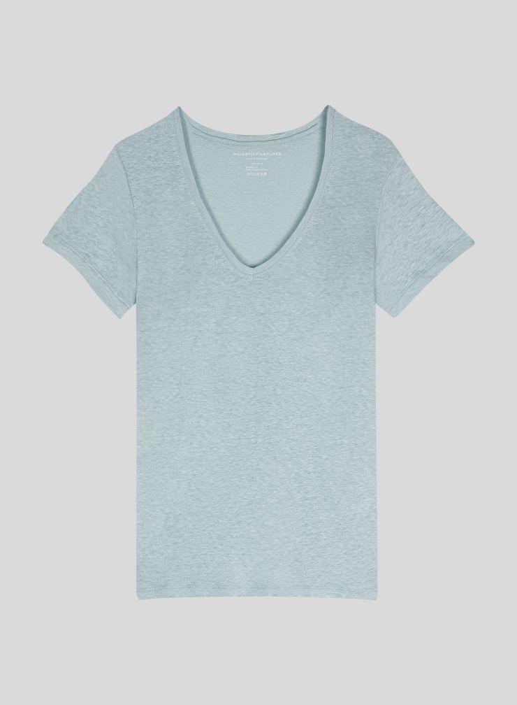 T-shirt col V Lisa col V