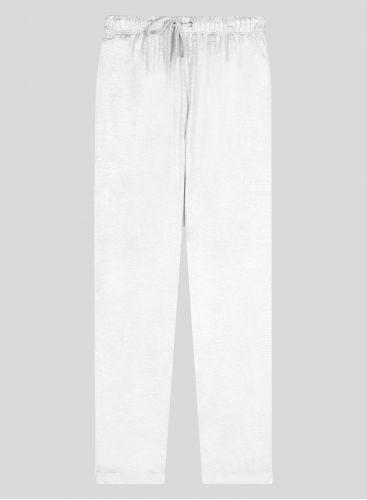 Pantalon lamé droit à revers