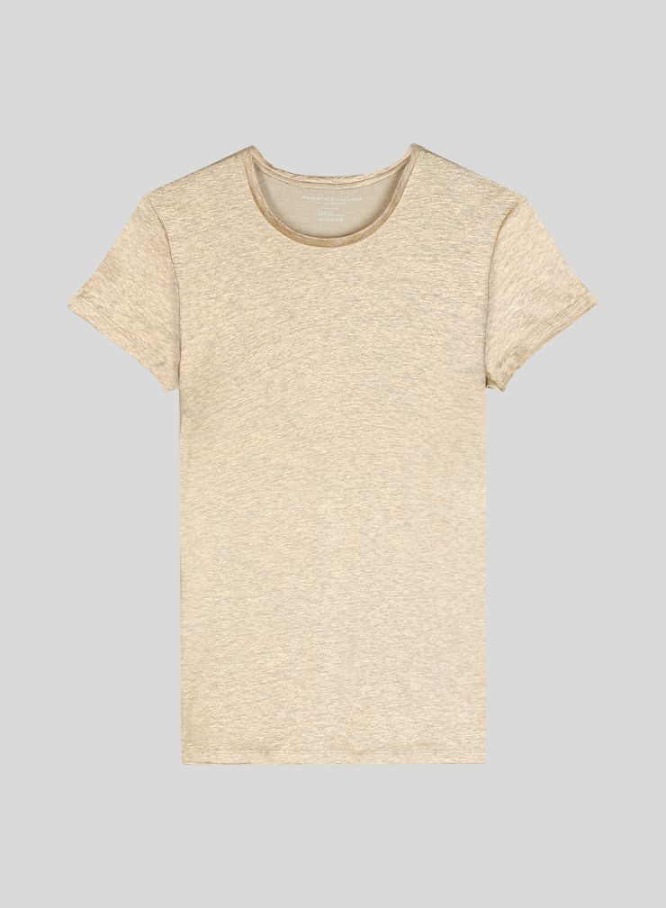 Shimmering round neck T-shirt