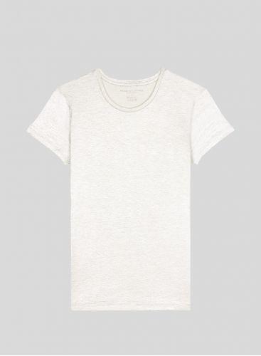 T-shirt lamé col rond