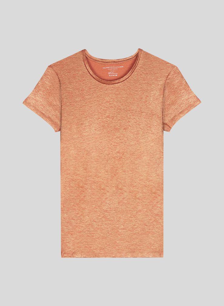 Shimmering round neck T-shirt