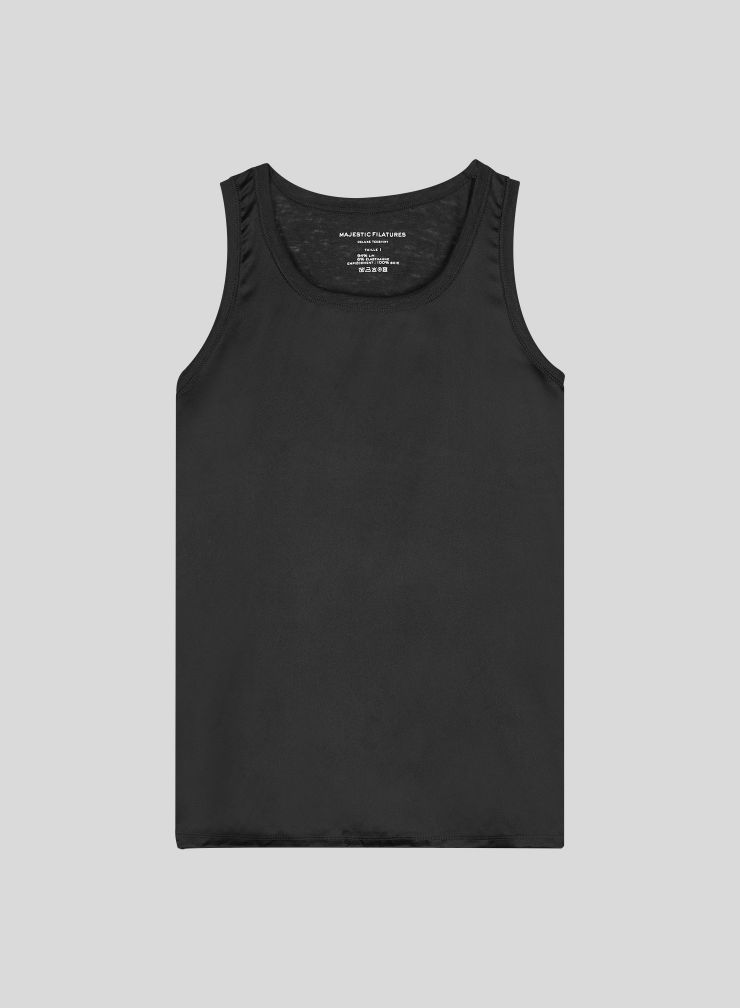 Tank Top with silk panel