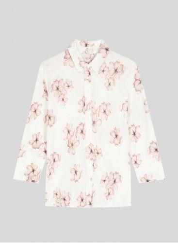Flower printed 3/4 sleeved Shirt