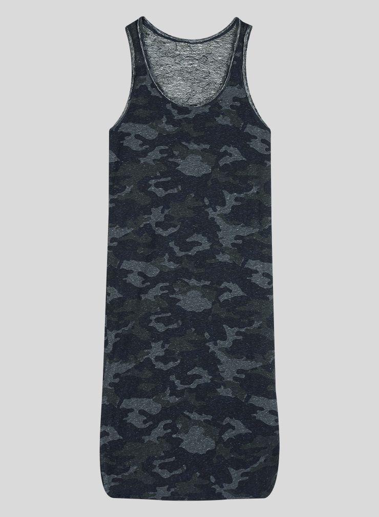 Camo printed Tank Top Dress