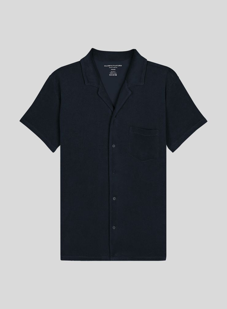 Men's short-sleeved sponge shirt