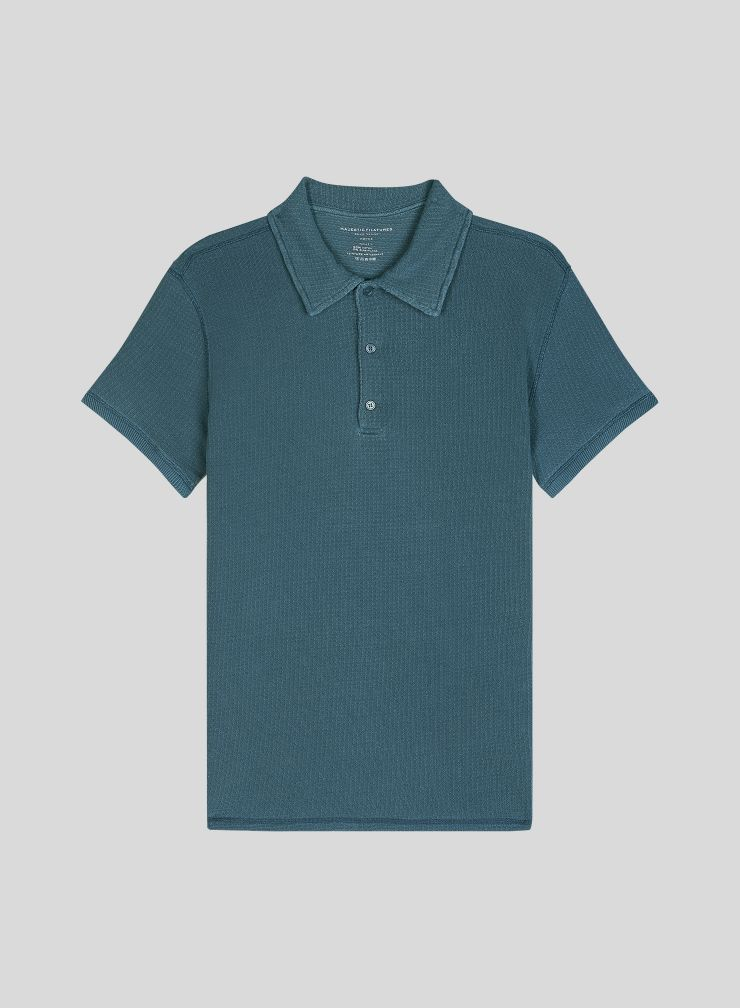 Men's hand dyed honeycomb polo Shirt