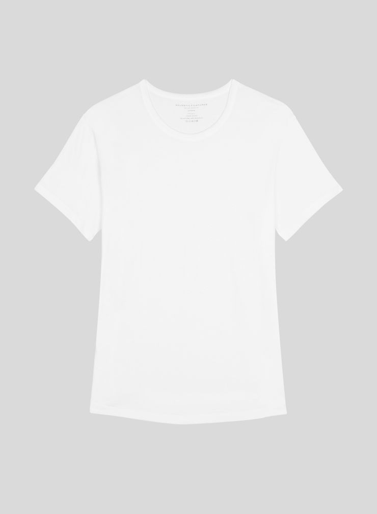 T-shirt col rond base arrondie