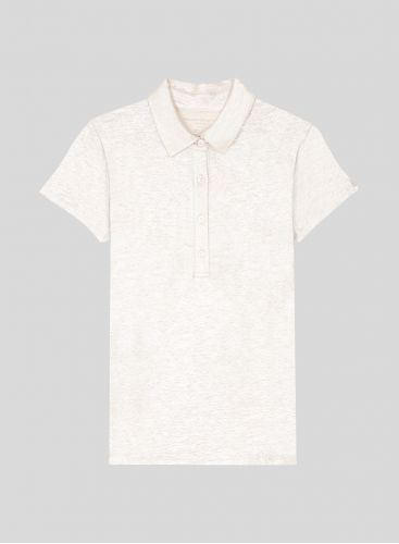 Shimmering short sleeved polo Shirt