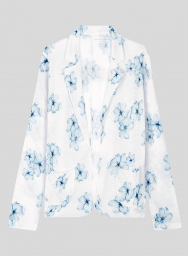 Flower printed buttonless Jacket