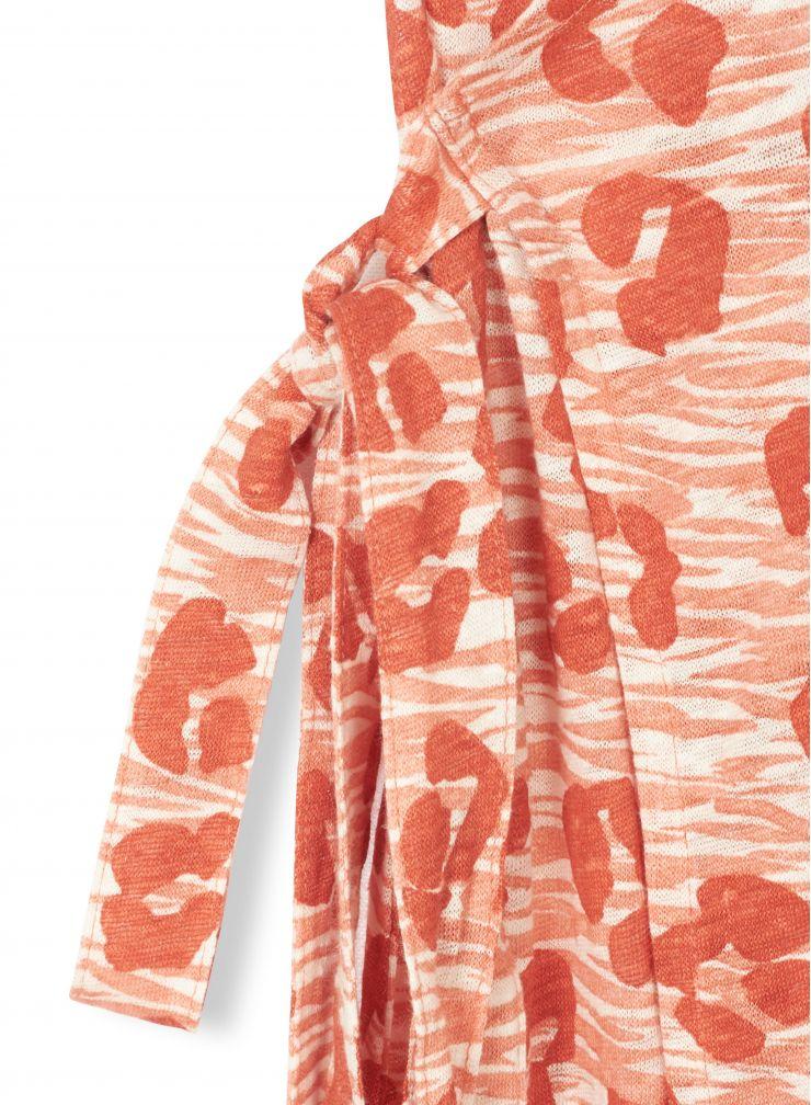 Robe cache-cœur imprimé léopard