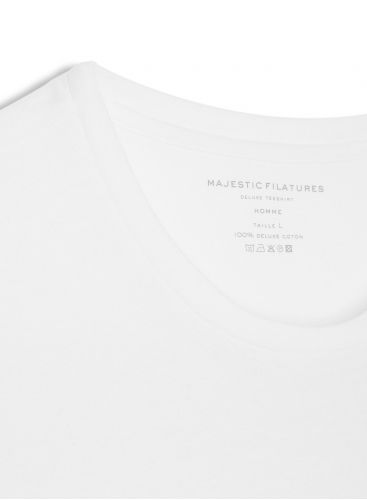 Men's round neck T-shirt with Majestic Filatures print