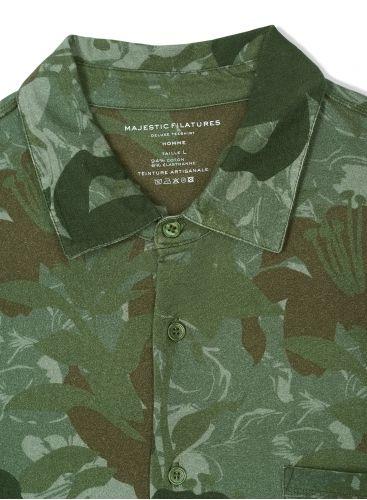 Chemise MC Homme imprimé camouflage