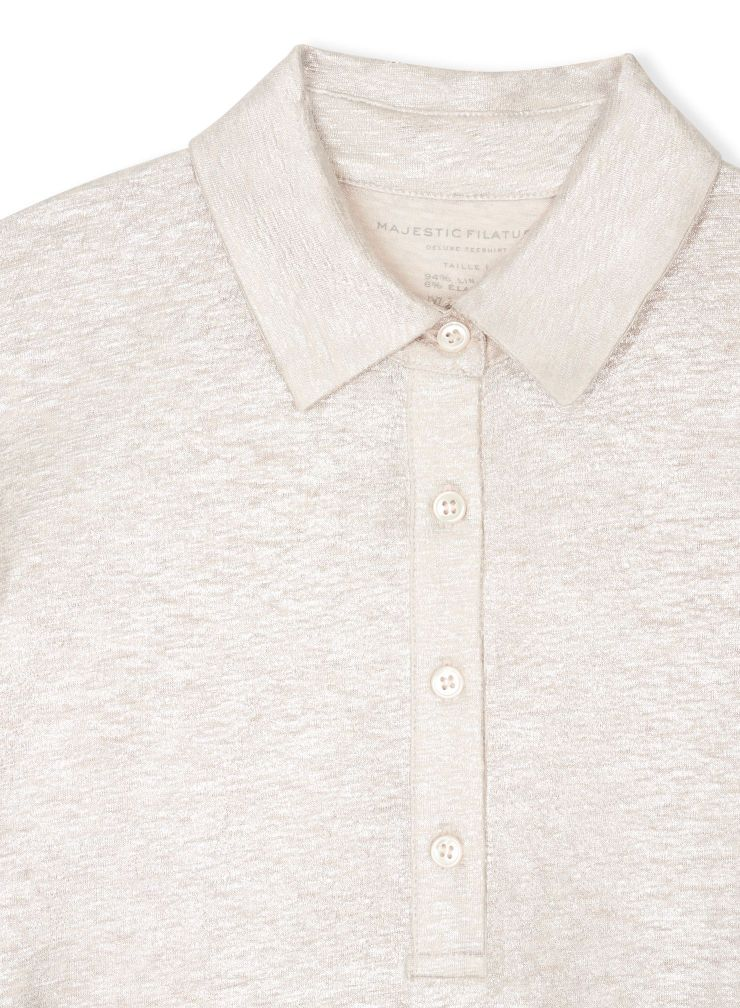 Shimmering short sleeved polo Shirt