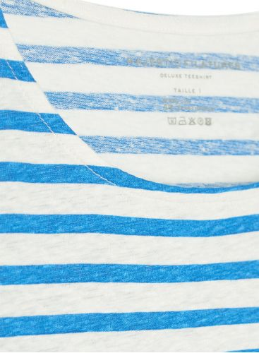 Striped boat neck T-shirt