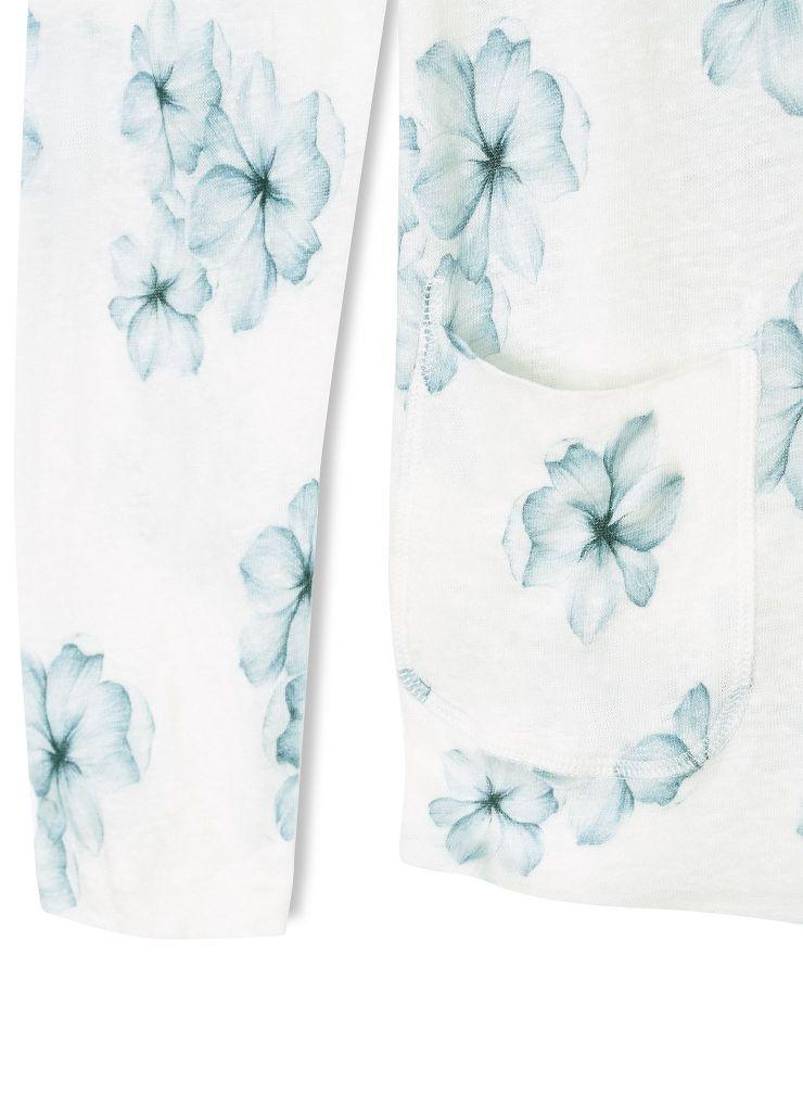 Veste sans bouton imprimé floral