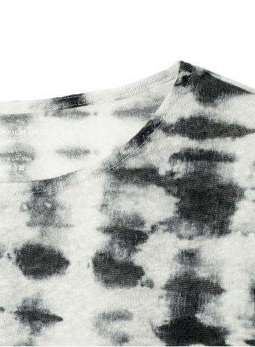 Tie & dye boat neck T-shirt
