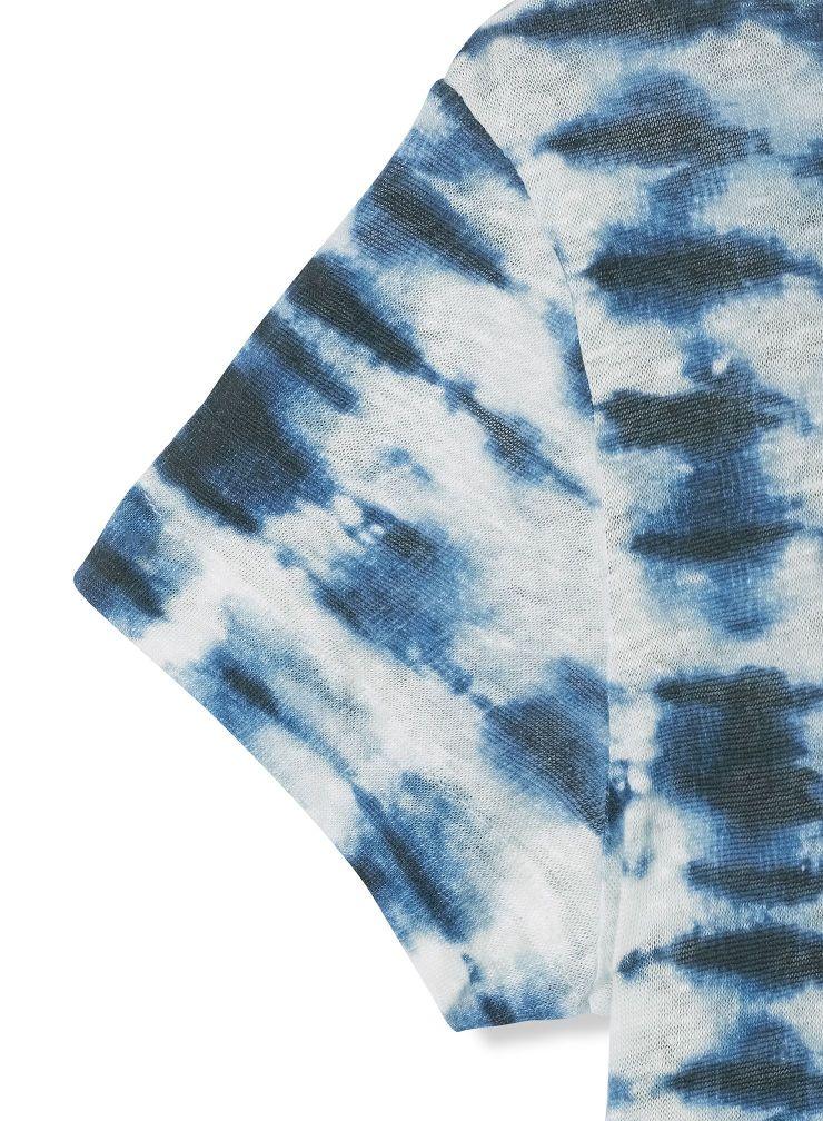 T-shirt col bateau tie & dye