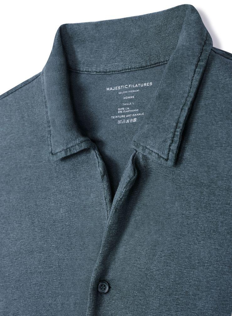 Men's hand dyed short-sleeved Shirt