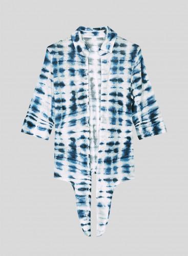 Chemise à nouer tie & dye