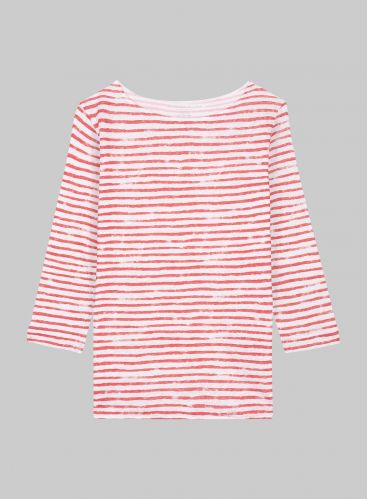 Sailor boat neck 3/4 sleeved T-shirt