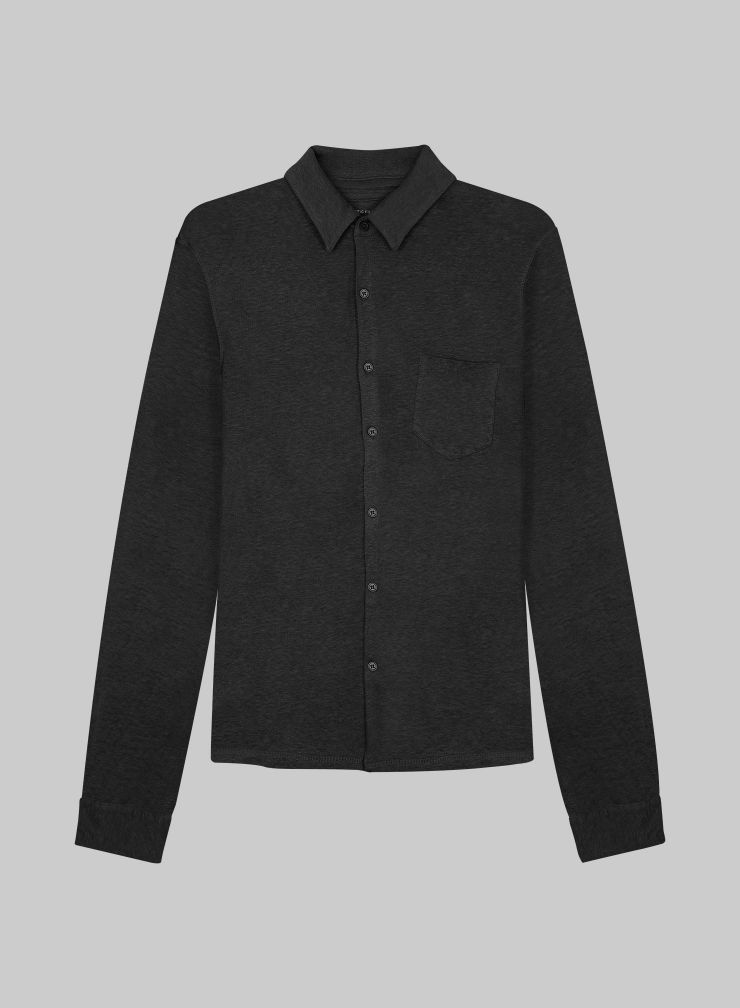 Men's Long-sleeved Shirt with pocket