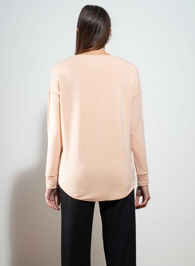 Round neck oversized T-shirt