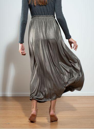 Jupe longue métallisée