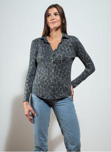 V-neck printed Shirt