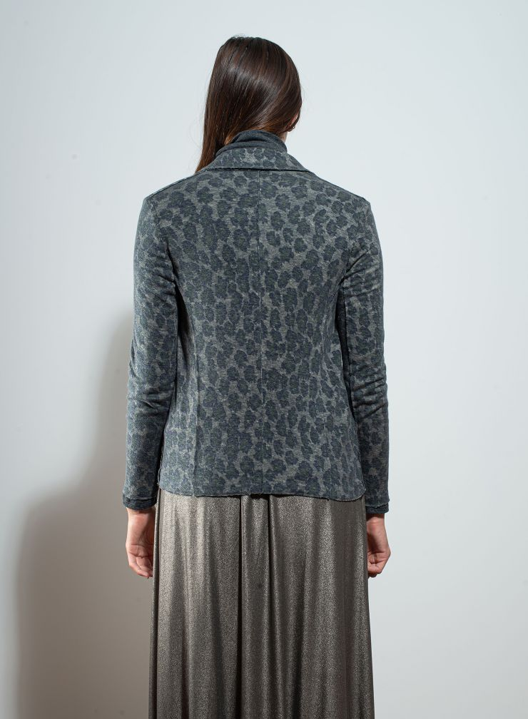 V-neck printed Jacket