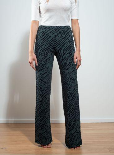 Zebra print velvet Pants