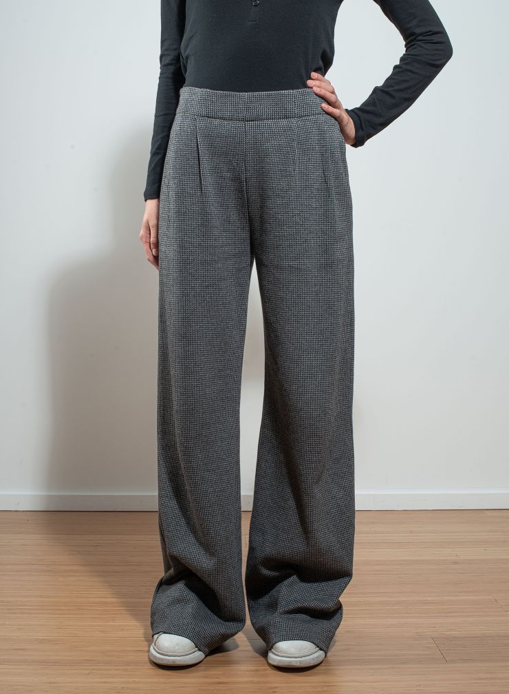 Micro houndstooth flared Pants