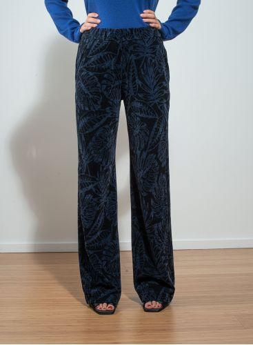 Jacquard velvet straight Pants
