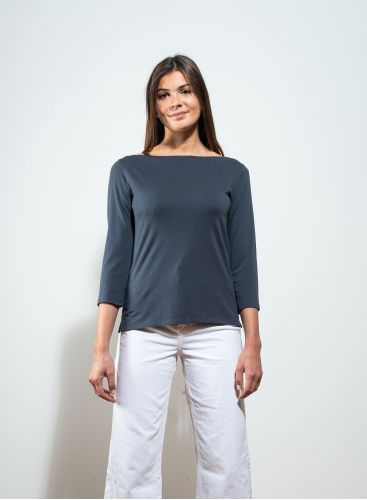Sailor neck Silk Touch T-shirt