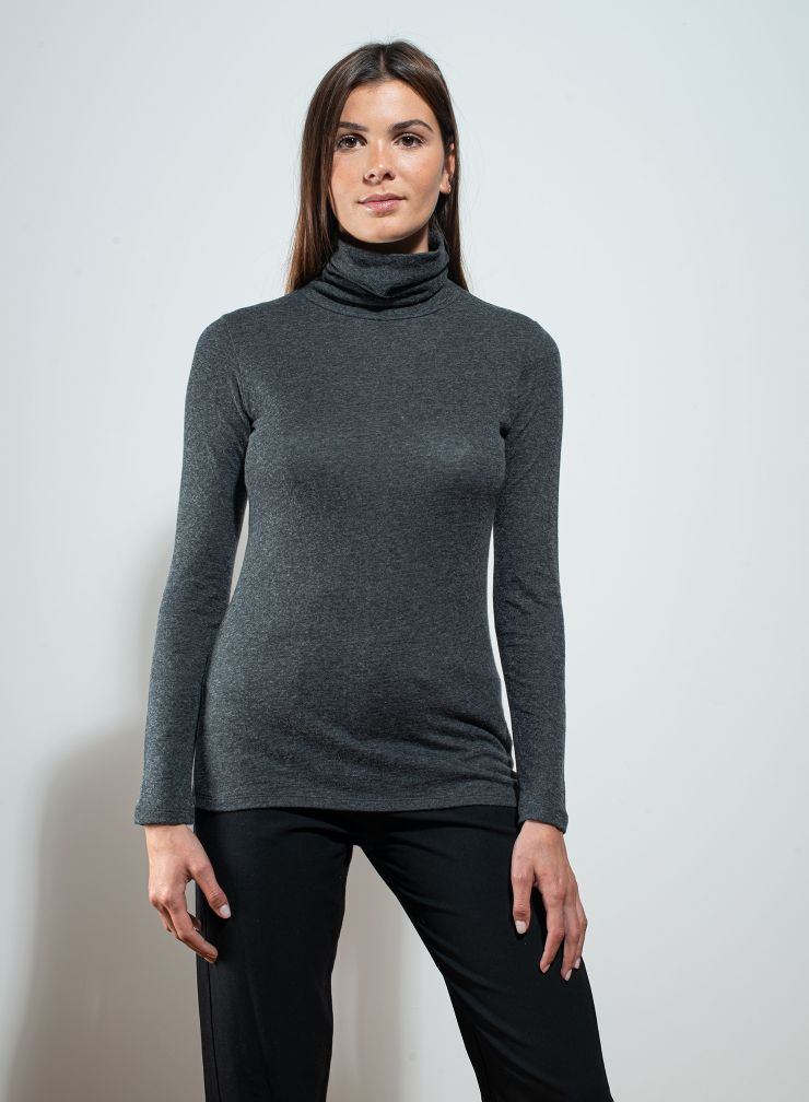 Turtleneck double sided T-shirt
