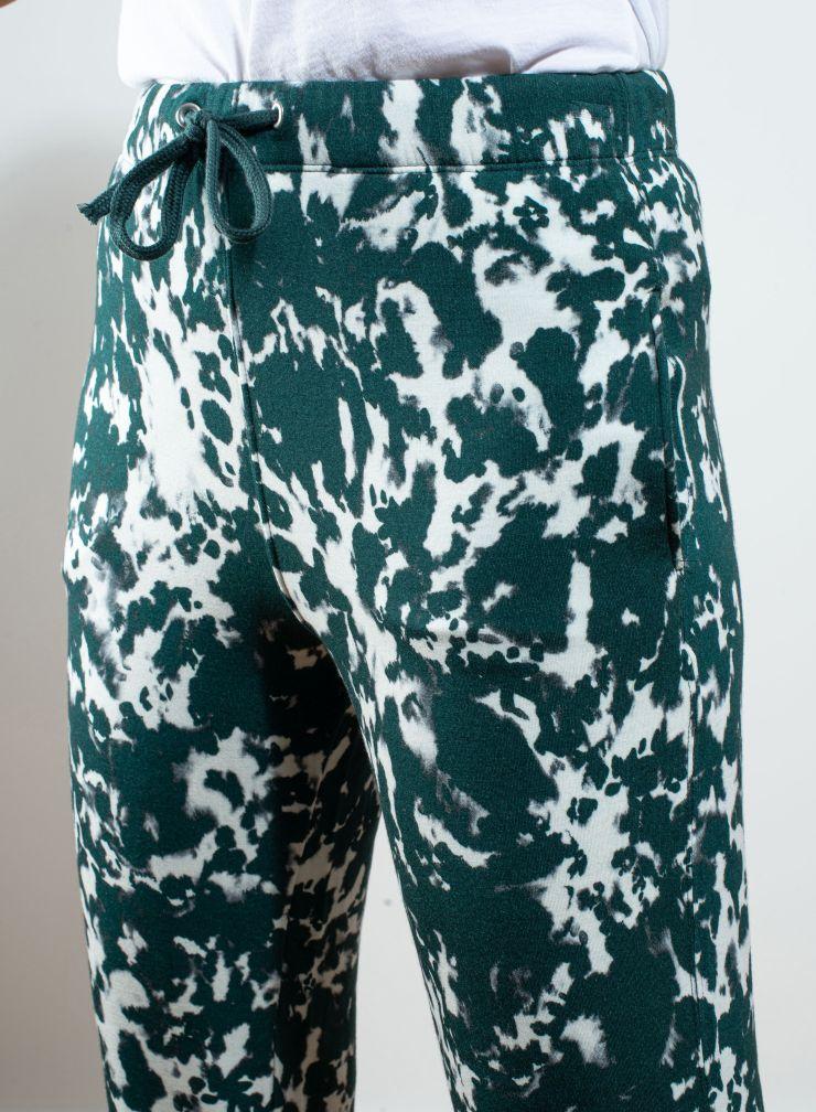 Pantalon à revers tie & dye