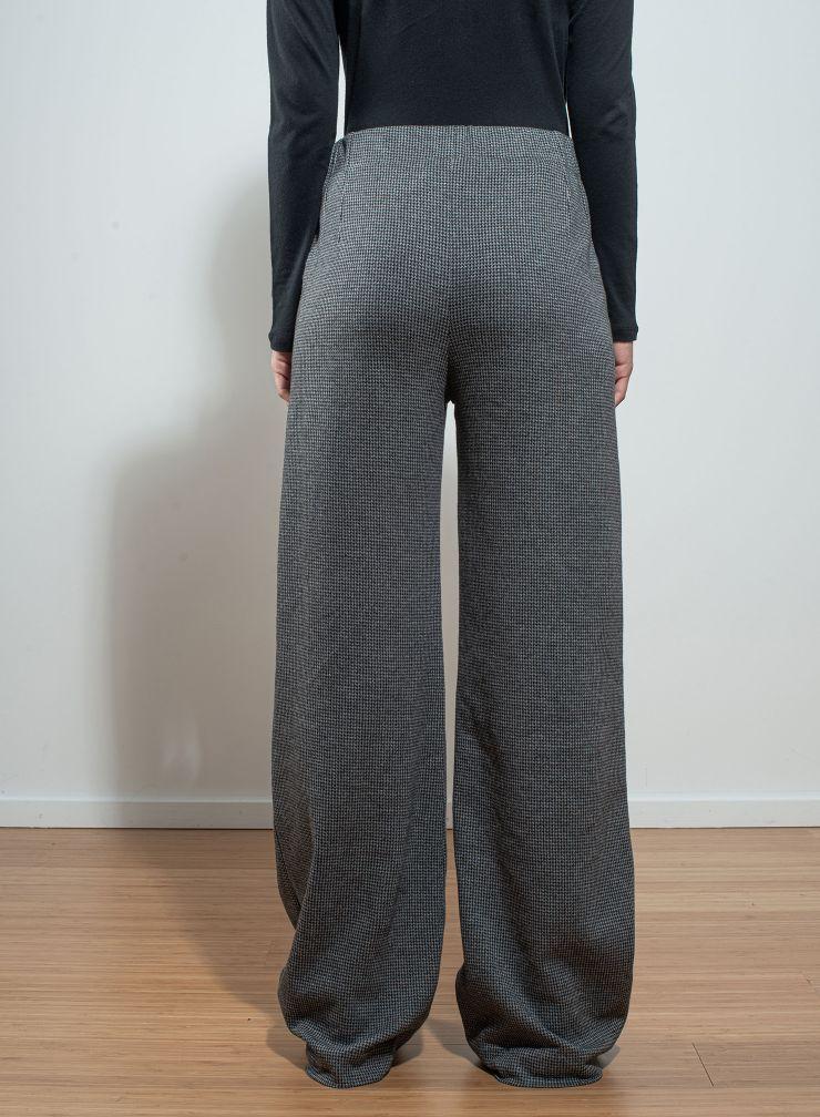 Pantalon flare pied-de-puce