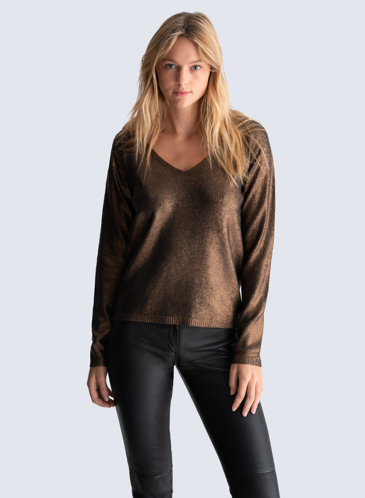 V-neck shimmering Sweater