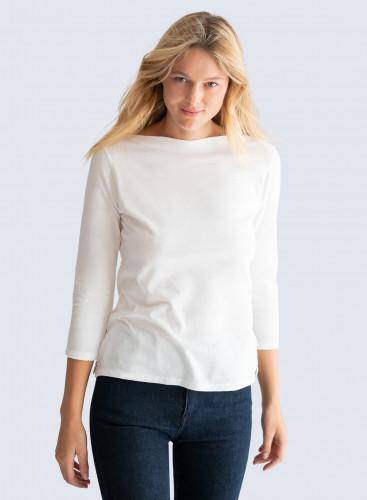 Sailor neck Silk Touch T-shirt