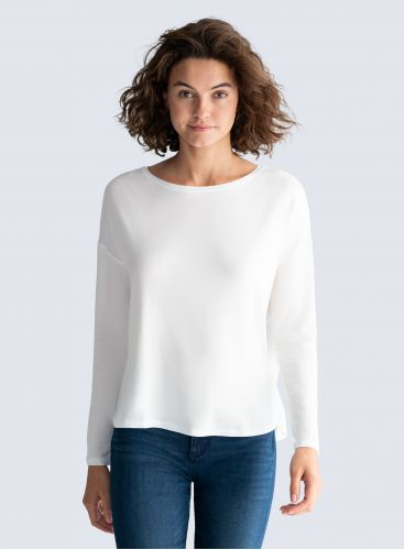 Sailor neck oversized T-shirt