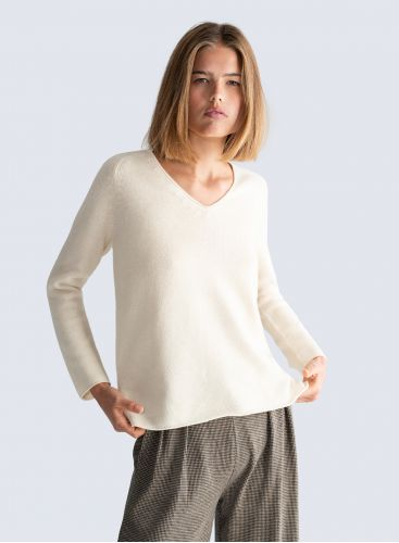 V-neck Mongolian cashmere Sweater