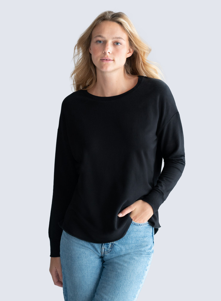 T-shirt col rond oversized